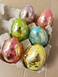metallic easter eggs 12 gold foil leaf easter eggs hot pink mint green orange