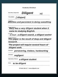 vocabulary worksheets diligent how to learn english