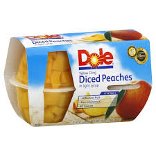 dole fruit bowls fruit bowls yellow cling diced in 100 juice 4 ct