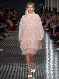 Womens Light Pink Dress No 21 Tiered Ruffled Silk And Macramé Lace Dress Womens Light