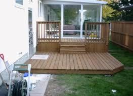 Backyard Small Deck Ideas Triyae Com U003d Deck Ideas For A Small Backyard Various Design