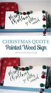 merry christmas u0027ya filthy animal painted wood sign small stuff