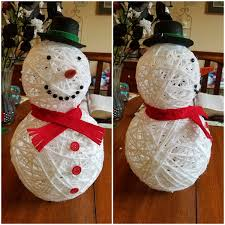 3d yarn snowman craft crafty morning