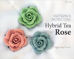 easy crochet rose pattern crochet flower patterns crochet