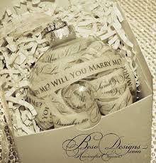 will you me ornament with gift box custom