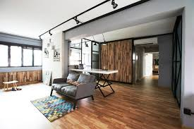 home and decor flooring this industrial hdb flat is edgy yet cosy singapore cosy and