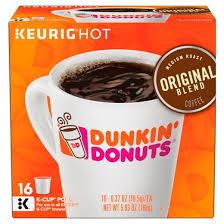 dunkin donuts original blend medium roast coffee k cup pods