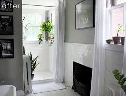 White And Green Bathroom - before u0026 after gray green bathroom redo u2013 design sponge