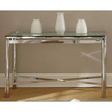 Glass Hallway Table Glass Entry Table In Verve Hallway Tables Living