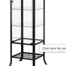 Ikea 2 Door Cabinet Ikea Klingsbo Glass Door Cabinet Black Clear Glass X 2 For Sale