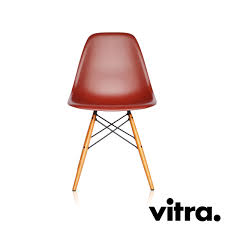 Esszimmerstuhl Vitra Vitra Eames Plastic Side Chair Dsw Oxidrot Ahorn