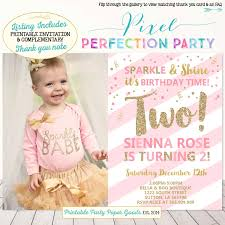 Invitation Card For 1st Birthday 2nd Birthday Invitation Templates Contegri Com