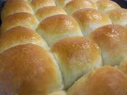 at home with dinner rolls