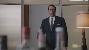 the scene where megan quits and don looks down an empty elevator