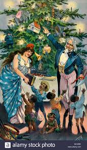 our christmas tree uncle sam and columbia taking christmas