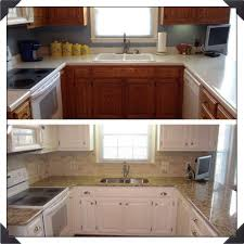 Small Kitchen Remodel Before And After Simple Brown Painted Kitchen Cabinets Before And After Captivating