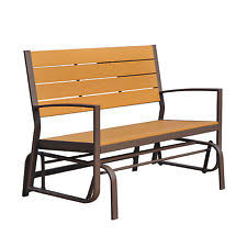 outdoor furniture 2 person loveseat patio lounge glider bench