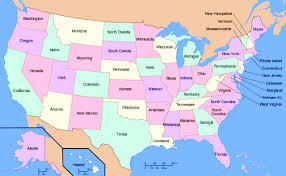 map of us states and capitals us map map of the united states of america with all states usa