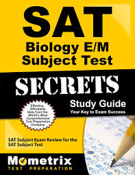 sat biology e m subject test secrets study guide sat subject exam