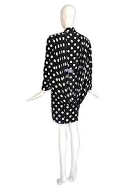 Pierre Dress Anthropologie 1987 Pierre Balmain Haute Couture Silk Polka Dot Dress W Back