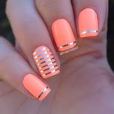 coral nail design nail art pinterest coral nail designs