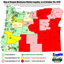 Portland Oregon On Map by Oregon Map Of Legal Marijuana Shops And Local Bans Portland Norml