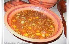 lentilles cuisine chorba aadess soupe aux lentilles