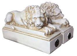 lion bookends resting lion bookends office products