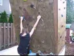 backyard rock climbing wall overhang youtube
