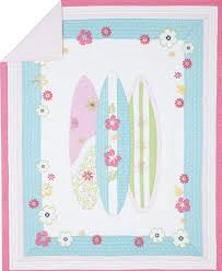 Pottery Barn Kids Twin Quilt New Pottery Barn Kids Surfboards North Shore Pink Twin Quilt Girls