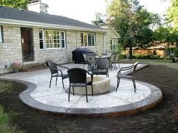 Outdoor Concrete Patio Designs Backyard Concrete Patio Ideas