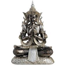buy buddha decorative resting buddha ornament black silver