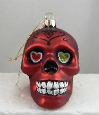 skull ornament ebay