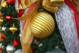 gold tree garland decoration stock image image
