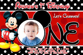 birthday invitation card mickey mouse free printable mickey mouse