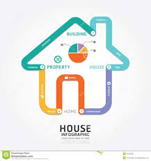 House Design Templates Free by Infographics Vector Building House Design Diagram Line Style Stock