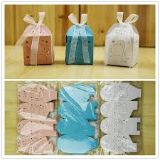 baptism favor boxes baptism party favors 100pcs baby elephant favor boxes boy