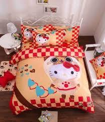 pink leopard print kitty cartoon bedding queen size