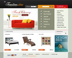 website template 24410 furniture store online custom website