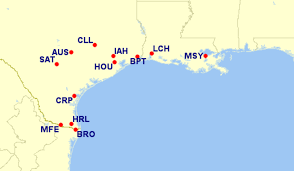 Iah Map More Airlines Are Issuing Waivers For Hurricane Harvey