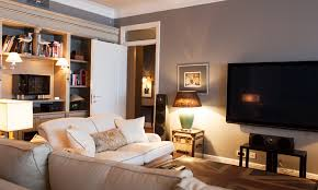 home design english style homey and classic english style apartment grey walls upholstred