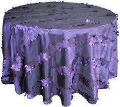 eggplant colored table linens round forest taffeta tablecloths table linens covers 120