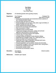 bartender resume template impress the recruiters with these bartender resume skills photo