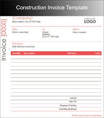 construction invoice template trucking invoice template free
