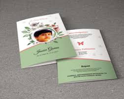 funeral announcement etsy