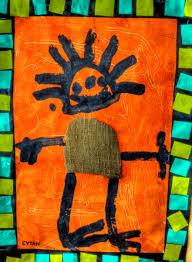 african art by 3 year old kids kids art pinterest african art
