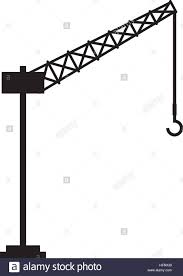 tower crane service icon vector illustration design stock vector