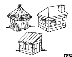 coloring pages pigs straw house gekimoe u2022 87612
