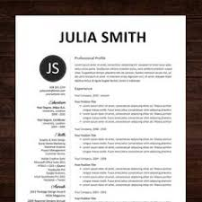 Examples Of A Cover Letter For Resume Instant Download Resume Template Cv Template For Ms Word