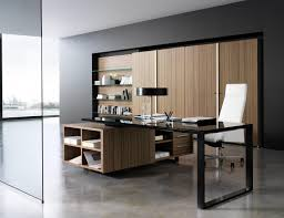 stunning office furniture design with black glass countertop